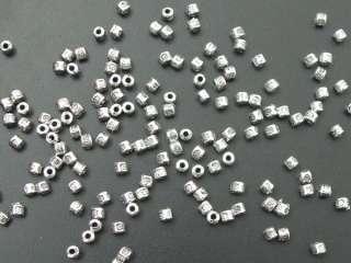 500 Tibetan Silver Barrel Spacer Beads Free Ship E013