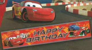 CARS   2  BIRTHDAY PARTY BANNER  Giant Size  150 X 30 CM