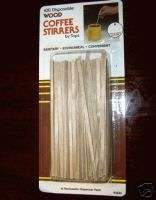 DISPOSABLE WOODEN COFFEE STIRRERS 077615025339