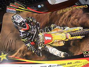 Chad Reed signed racing poster RockStar Energy Makita