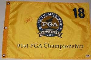 RYO ISHIKAWA Signed Autographed 2009 PGA CHAMPIONSHIP GOLF FLAG Psa