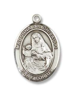 Sterling Silver St. Madonna Del Ghisallo Medal Saint Pa