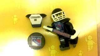 Lego NHL CUSTOM NEW YORK Rangers, LUNDQVIST #30, Hockey Minifigure