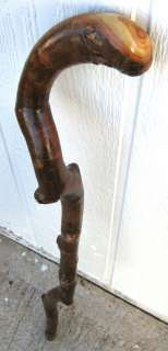 Hand Carved Crafted Colorado Aspen Cane Walking Stick