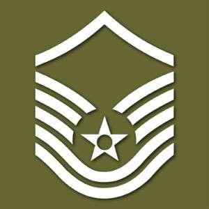 Air Force E 7 Master Sergeant MSgt Vinyl Sticker VLAFE7