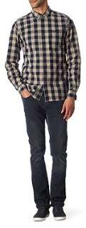 FRED PERRY Homespun regular fit single cuff shirt