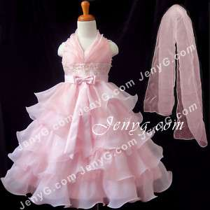 S11 Flower Girl/Bridesmaids Dress Gown Pink 2 10 Years