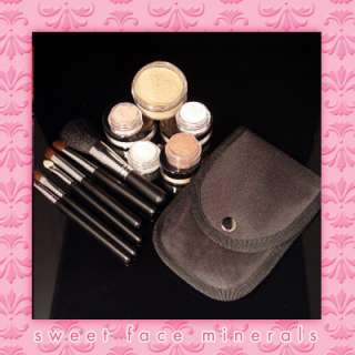DK TAN STARTER KIT BRUSHES Mineral Makeup Bare Sheer