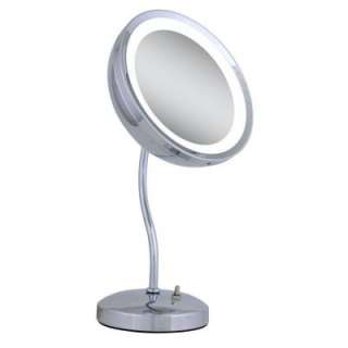 Zadro Lighted 6X S Neck Vanity Mirror in Chrome ZLS36 at The Home