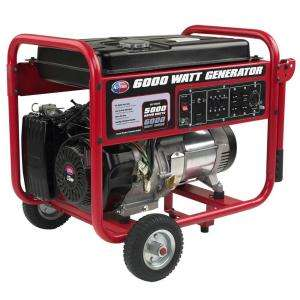 All Power 6000 Watt 9 HP Portable Generator with Mobility Cart