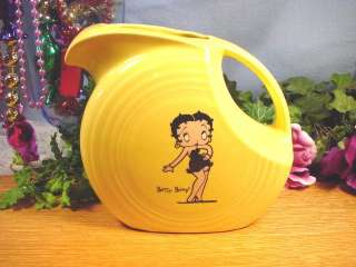 BETTY BOOP Fiesta® SUNFLOWER LARGE PITCHER Liquidation