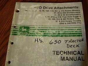 John Deere 49 Snowthrower Gearcase TM1594 Technical manual book