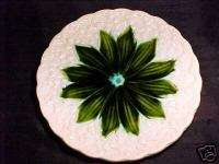 GERMAN MAJOLICA Pottery PLATE SCHRAMBERG SMF, Lily of the Valley, gm20