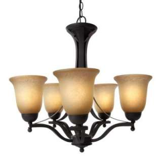 Commercial Electric Rustic Iron 5 Light Chandelier ESS8115 3 at The