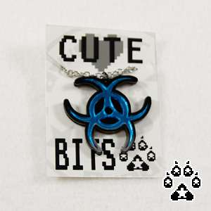 Cosplay Acrylic Cyber Goth BIOHAZARD Necklace Choker Collar Anime Goth