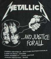 METALLICA Vintage Concert SHIRT 80s TOUR T RARE ORIGINAL 1988 JUSTICE