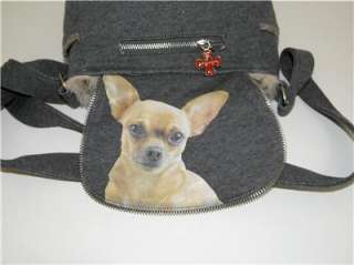 NEW FUZZY NATION CHIHUAHUA DOG SWEATER CROSSBODY BAG