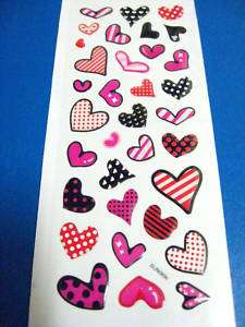 pattern heart crystal 3D stickers envelope seal label