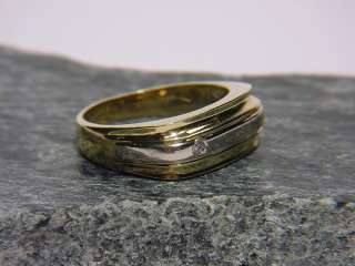 Brillant Ring, bicolor aus 750er GOLD, Goldring, massiv