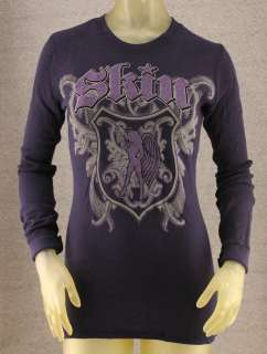 Skin Industries Medium Navy Blue Long Sleeve Thermal Shirt