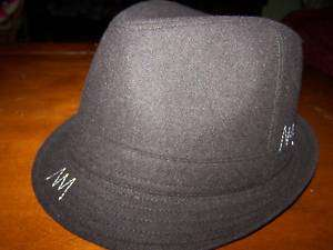 MENS S/M DARK BROWN FELT WOOL FEDORA
