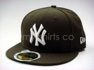 New York Yankees Brown White Kids New Era Fitted Hat