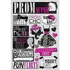 New Karen Foster Prom Chipboard Scrapbook Stickers