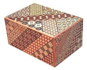 japanese secret puzzle box is made in the yosegi pattern this pattern