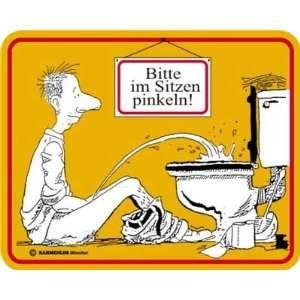Fun Schild Bitte im Sitzen Pinkeln (gelb), 22 x 17 cm: .de
