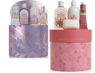 Crabtree & Evelyn Luxuries LAVENDER OR ROSEWATER HAT BOX GIFT SET