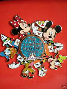 Disney Mickey Minnie Donald Goofy Pluto Jumbo Pin LE