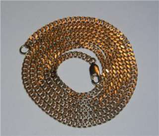 Estate 14Kt Yellow Gold Curb or Cuban Link Chain Necklace Aurafin 14Gr