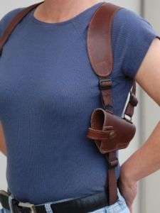BROWN LEATHER SHOULDER HOLSTER Taurus PT111 138 140 145