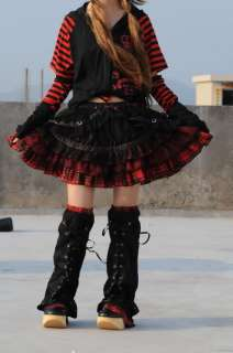 Nana Dolly Punk Rock Nana Mini Skirt+leg warmer Red