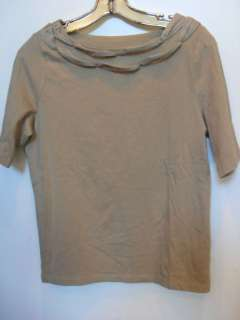 TALBOTS MODAL LIGHT BROWN BOAT NECK T SHIRT TOP NWT PM