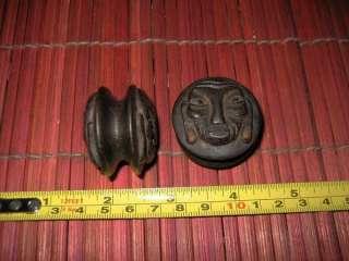 B# Rare Hardwood Dayak Piercing Ear Figure Stud Borneo
