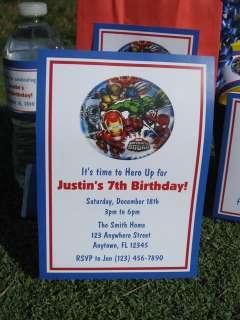 Superhero Squad Birthday Invitation Favors Water Candy