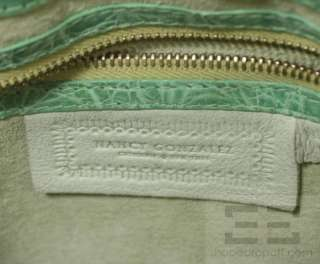 Nancy Gonzalez Green Crocodile Clutch Bag