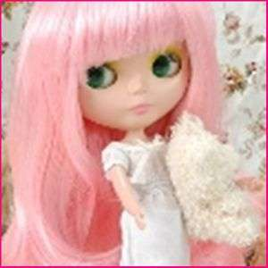 CoolCat Custom Blythe Wig D2 1120 28 Pink Straight Hair