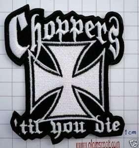 WEST COAST CHOPPERS TIL YOU DIE HARLEY DAVIDSON PATCH