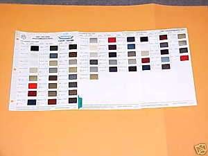 1987 VOLKSWAGEN AUDI PAINT CHIPS COLOR CHART VW AUDI 87