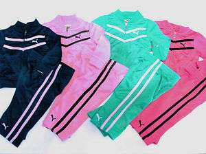 NWT Girls Puma 2pc Track Suit Jacket Pants Outfit Set 12mo 18mo 24mo