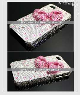 Sylvia Swarovski Crystal 3D Bow iPhone3&4case