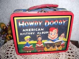 HOWDY DOODY LUNCHBOX AMERICAN HISTORY 1998