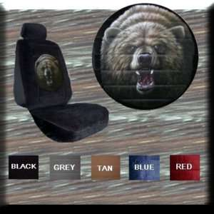 NEW FIERCE GRIZZLY BEAR CAR TRUCK SUV SEAT COVERS pp