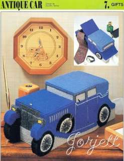 Antique Car Tissue Box Cover, Annies pc pattern