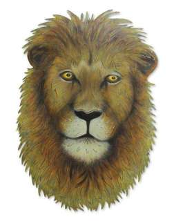 Majestic Lion~Hand Crafted Steel Mask Mexico Metal Art