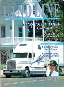 LAND LINE TRUCKER Magazine July/August 1994 VINTAGE!!!