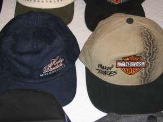 12 LOT WHOLESALE HARLEY DAVIDSON VINTAGE ASSORTED HATS CAPS GREAT