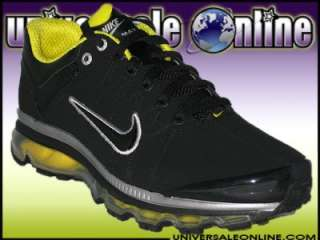 NIKE SHOES AIR MAX 2009 LEATHER MENS 11.5   BLACK YELLOW RUNNING PLUS